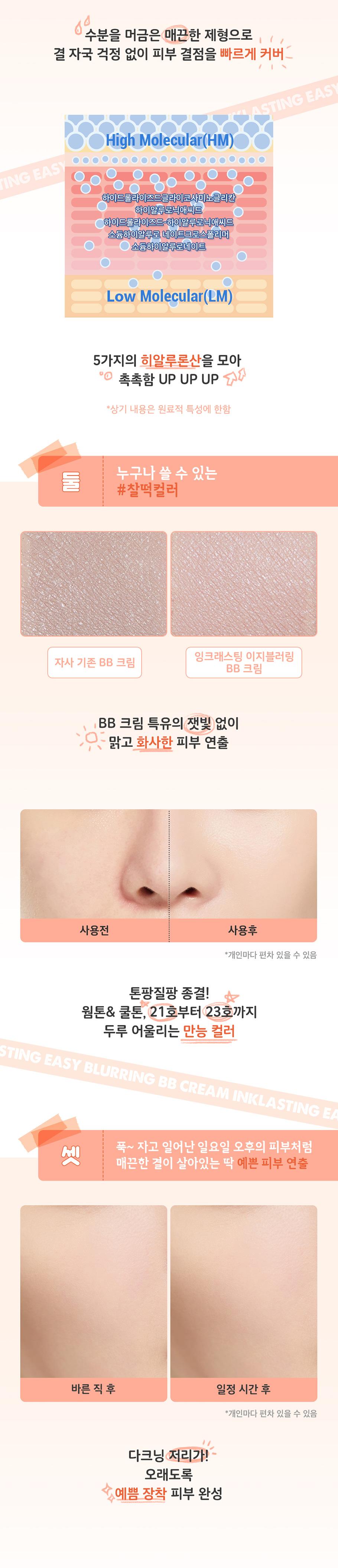 [ShiPAPA] Peripera | InkLasting Easy Blurring BB Cream| 韓國直送🇰🇷 | 香港 澳門